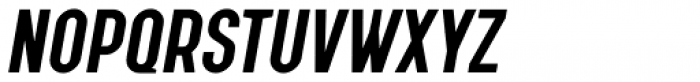 Augmento Condensed Bold Italic Font UPPERCASE