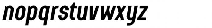 Augmento Condensed Bold Italic Font LOWERCASE