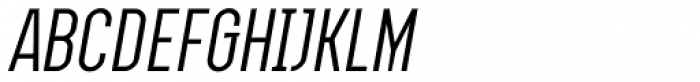 Augmento Condensed Italic Font UPPERCASE