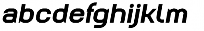 Augmento Extended Black Italic Font LOWERCASE