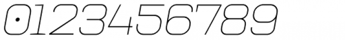 Augmento Extended Thin Italic Font OTHER CHARS