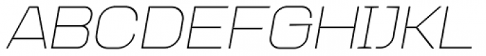 Augmento Extended Thin Italic Font UPPERCASE