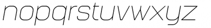 Augmento Extended Thin Italic Font LOWERCASE