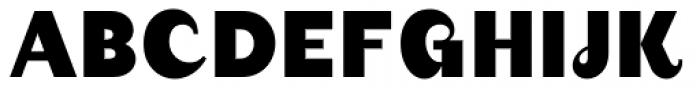 August Black Font UPPERCASE