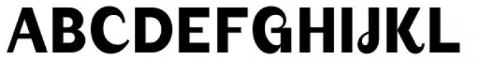 August Medium Font UPPERCASE