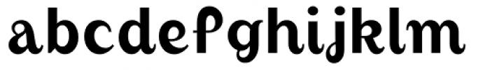 August Regular Font LOWERCASE