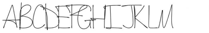 August Rush Semi Bold Font UPPERCASE