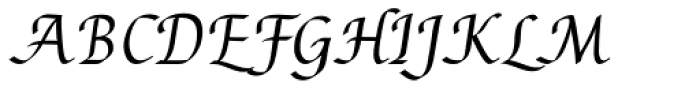 Augusta Std Cancellaresca Font UPPERCASE