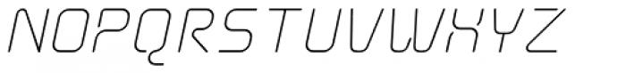 Aunchanted Elite Oblique Font UPPERCASE