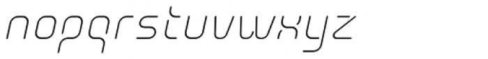 Aunchanted Elite Oblique Font LOWERCASE