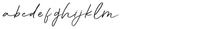 Aunofa Script Font LOWERCASE