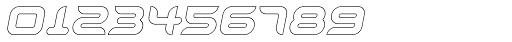 Aura Outline Oblique Font OTHER CHARS