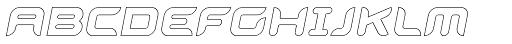 Aura Outline Oblique Font UPPERCASE