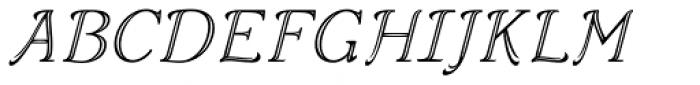 Aure Wye CJ Italic Font UPPERCASE