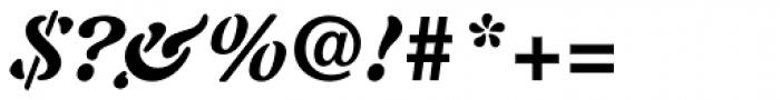 Auriol Black Italic Font OTHER CHARS