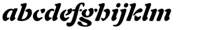 Auriol Black Italic Font LOWERCASE