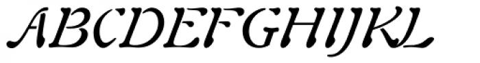 Auriol Italic Font UPPERCASE