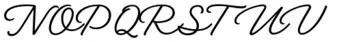 Austen Script Normal Font UPPERCASE