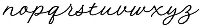 Austen Script Normal Font LOWERCASE
