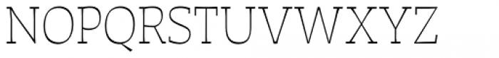 Auster Slab Thin Font UPPERCASE