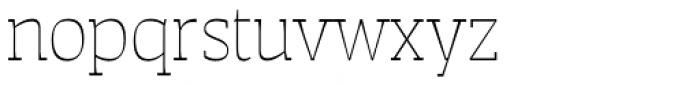 Auster Slab Thin Font LOWERCASE