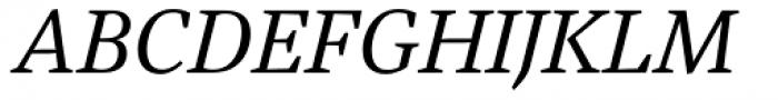Austera Text Italic Font UPPERCASE
