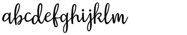 Austin Script Regular Font LOWERCASE