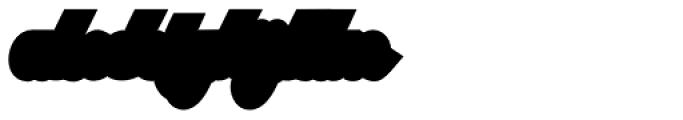 Austine Script Regular Extruded Font LOWERCASE