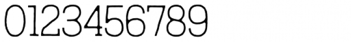 Austral Slab Blur Thin Font OTHER CHARS