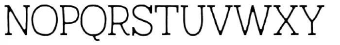 Austral Slab Blur Thin Font UPPERCASE