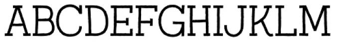 Austral Slab Rough Light Font UPPERCASE