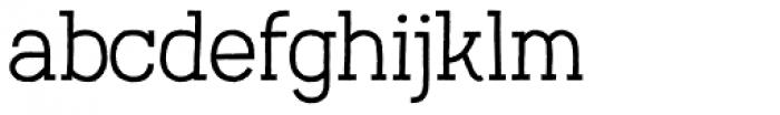 Austral Slab Rough Light Font LOWERCASE