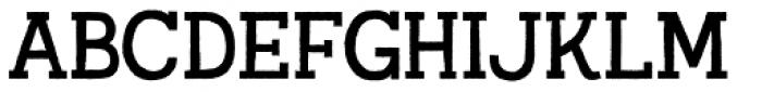 Austral Slab Rough Regular Font UPPERCASE