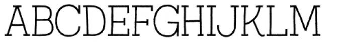 Austral Slab Rough Thin Font UPPERCASE