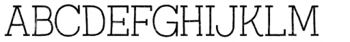 Austral Slab Rust Thin Font UPPERCASE