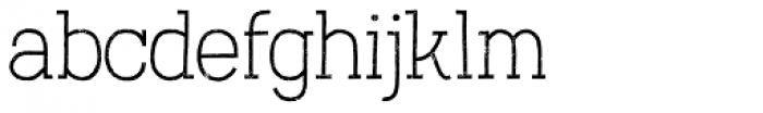 Austral Slab Rust Thin Font LOWERCASE