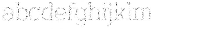 Austral Slab Spots Light Font LOWERCASE