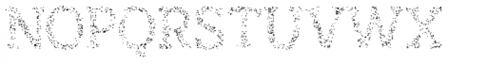 Austral Slab Spots Regular Font UPPERCASE