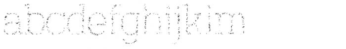 Austral Slab Spots Thin Font LOWERCASE