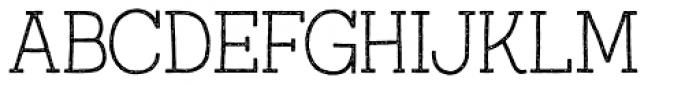 Austral Slab Stamp Thin Font UPPERCASE