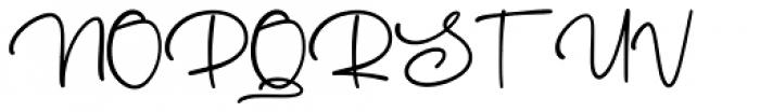Australove Regular Font UPPERCASE