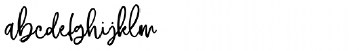 Australove Regular Font LOWERCASE