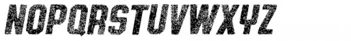 Authority Aged Italic Font UPPERCASE