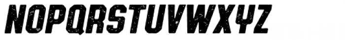 Authority Distressed Italic Font LOWERCASE