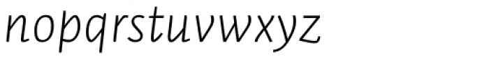 Auto Pro Light Italic 2 Font LOWERCASE