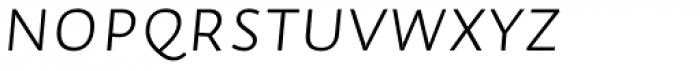 Auto Pro Light Italic Small Caps Font LOWERCASE