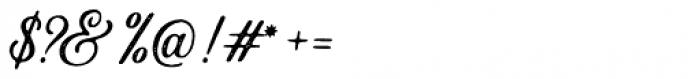 Autogate Script Stamp Font OTHER CHARS
