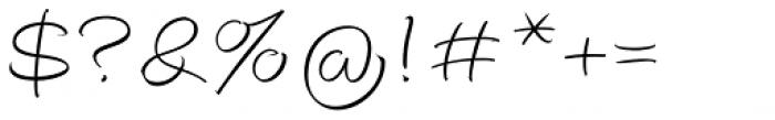 Autograph Script EF Pro Light Font OTHER CHARS