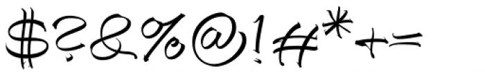Autograph Script EF Regular Font OTHER CHARS