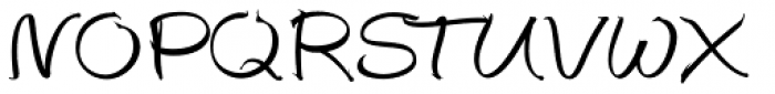 Autograph Script EF Regular Font UPPERCASE